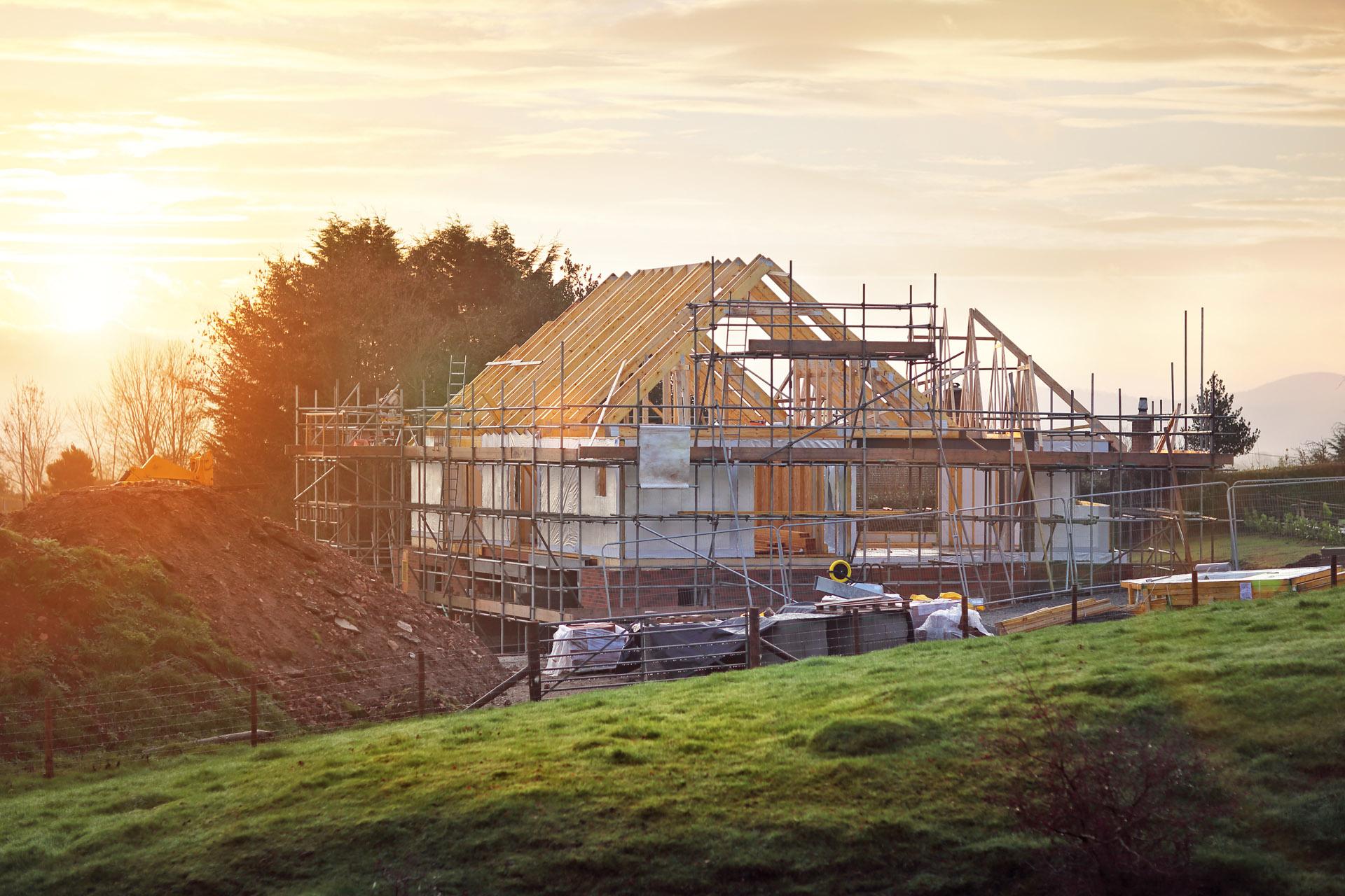 Baustelle Einfamilienhaus