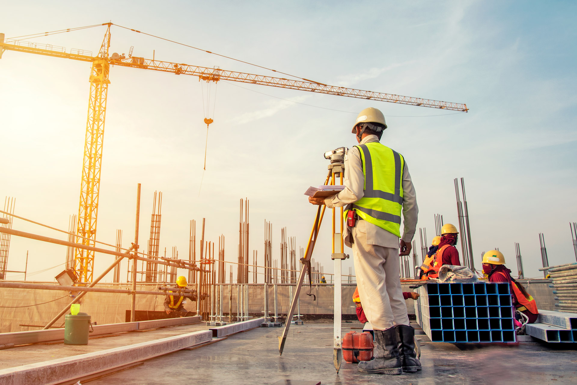 Vermessen der Baustelle