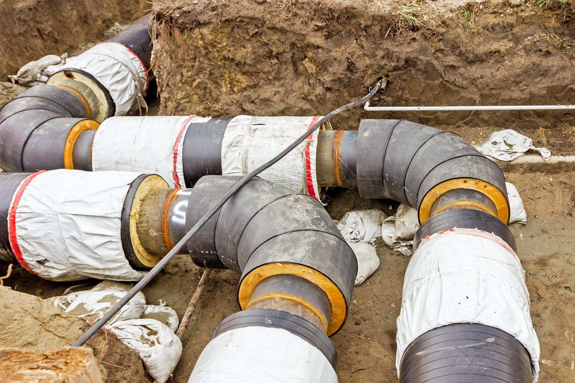 Bodenverlegung Rohre