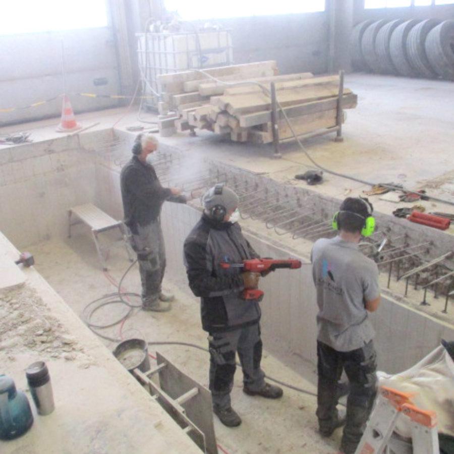 Sanierung einer LKW-Grube